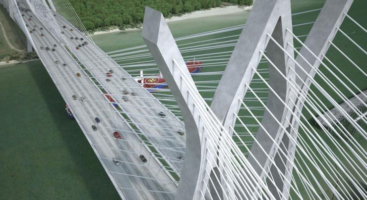Sam Houston Tollway Ship Canal Bridge