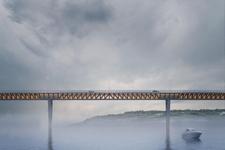 E6 timber bridge