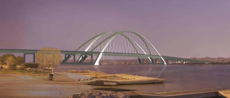 I-74 basket-handle arch Mississippi River