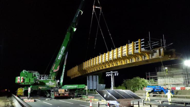 Installation of the new Recreation Ground Bridge