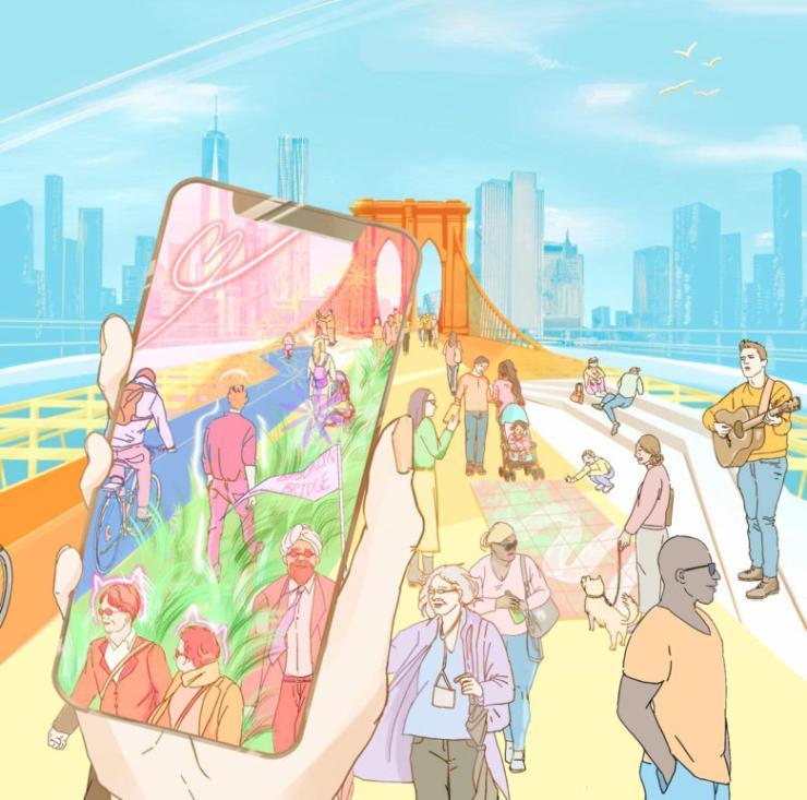 Bridge X -  Reimagining Brooklyn Bridge