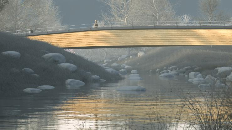 Ballingen Footbridge - Moxon and Miebach
