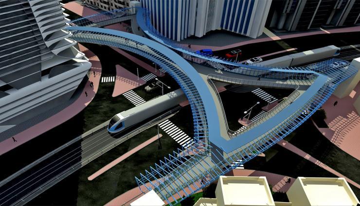 Besix footbridge, Dubai