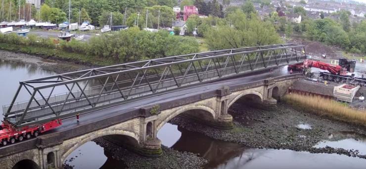 Black Cart Bridge installation