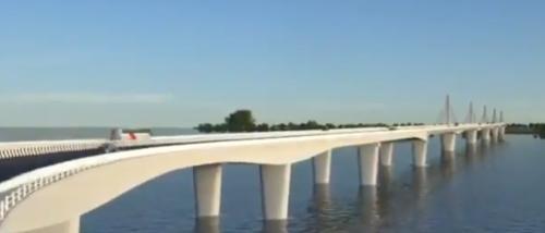 extradosed bridge over Brahmaputra
