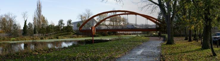 Chelmer Waterfront proposed arch bridge