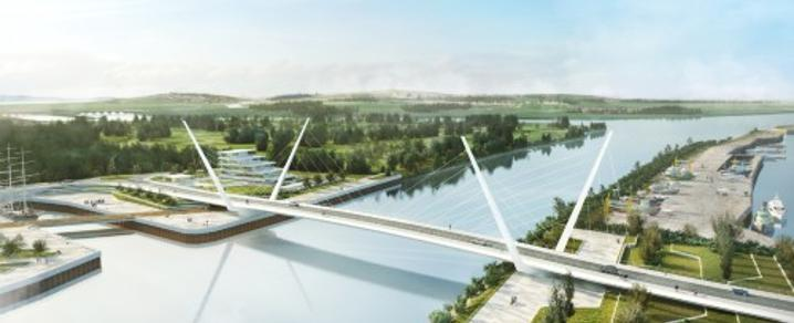 Clyde Waterfront & Renfrew Riverside swing bridge
