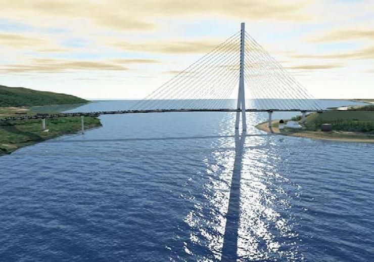 How a bridge over the Corran Narrows might look