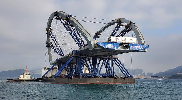 Cross Bay Link - double-arch steel bridge
