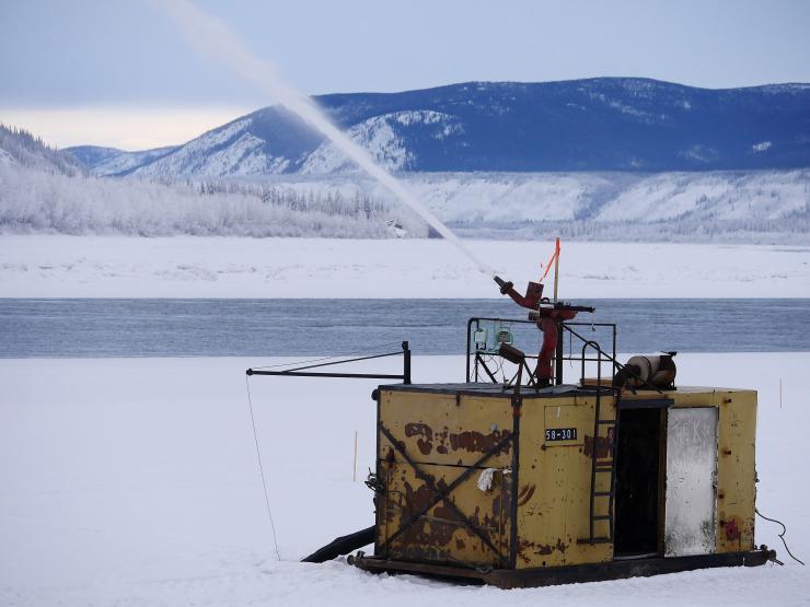Dawson ice bridge