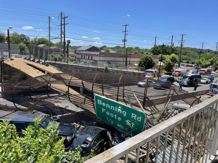 Bridge collapse - photo by DC Fire & EMS