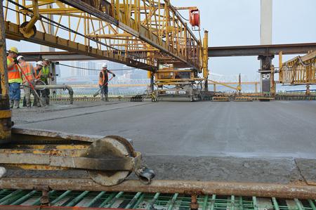 Deck pour marks progress for Kennedy Bridge - Bridge Design