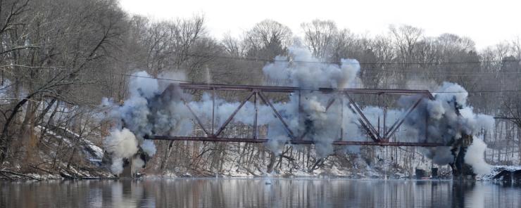 Demolition - NY Empire Bridge programme