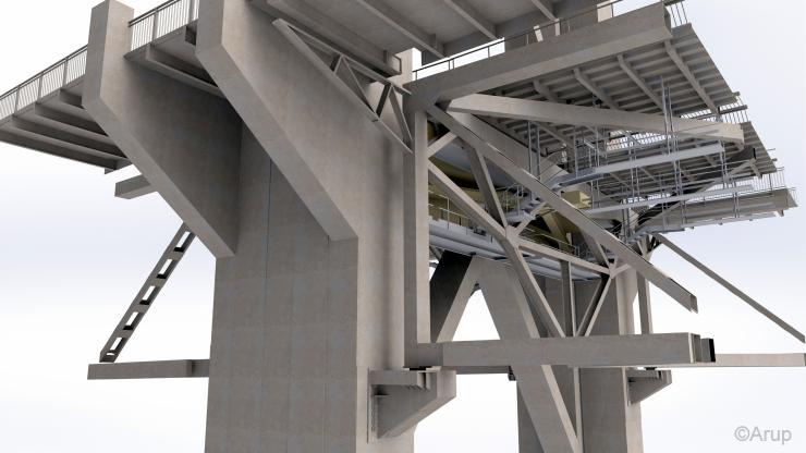 Forth Road Bridge - truss end link repair
