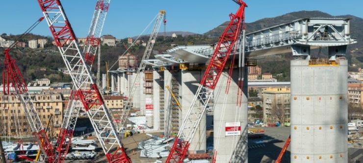 Polcevera Viaduct - final pier