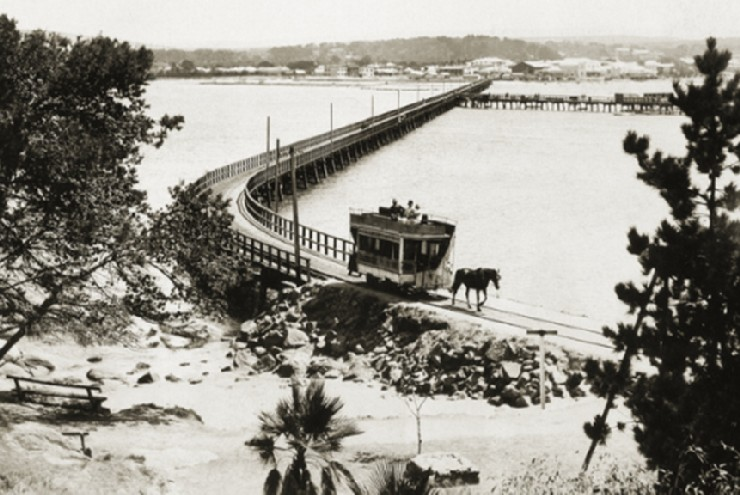 Granite Island Causeway in about 1930