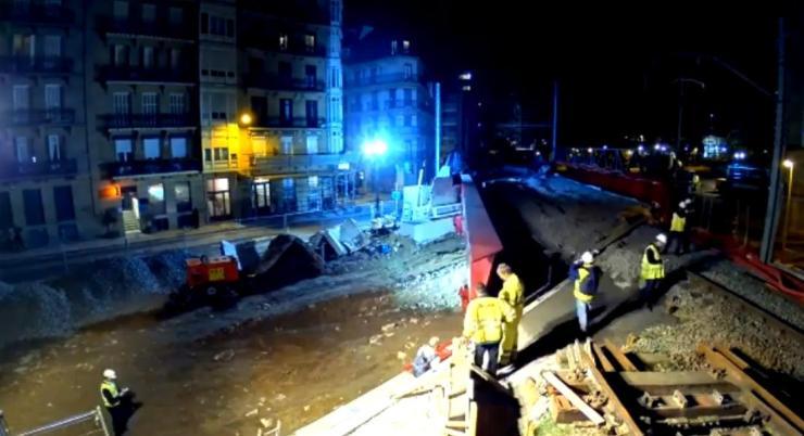 Iztueta Bridge installation - 2
