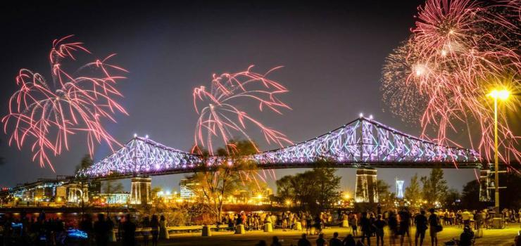 Jacques Cartier Bridge lighting