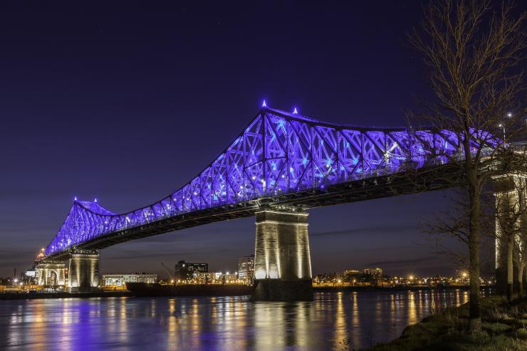 Jacques Cartier Bridge lighting
