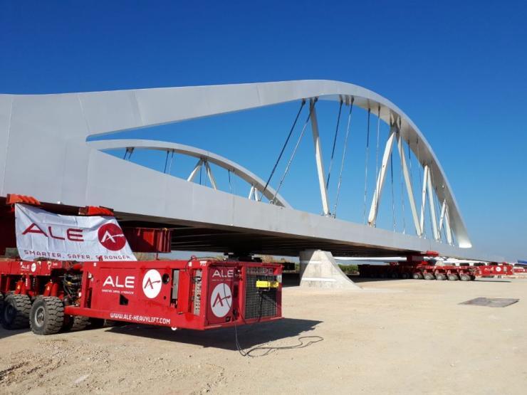 Jucar bridge launch by ALE