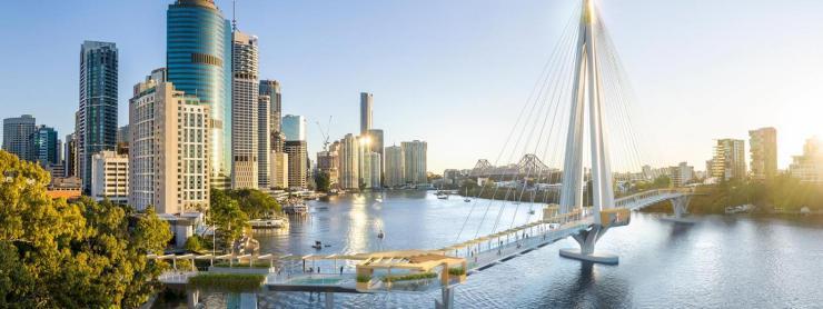Kangaroo Point green bridge