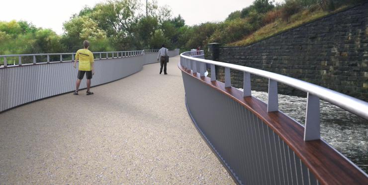 footbridge at Knostrop weir