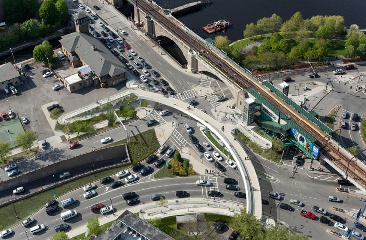 Leverett Circle footbridge