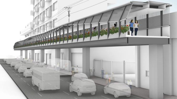 Manila - EDSA walkway