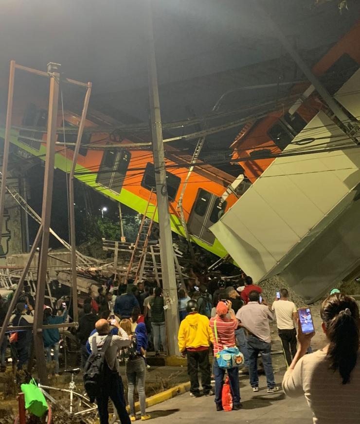 Line 12 metro collapse Mexico City