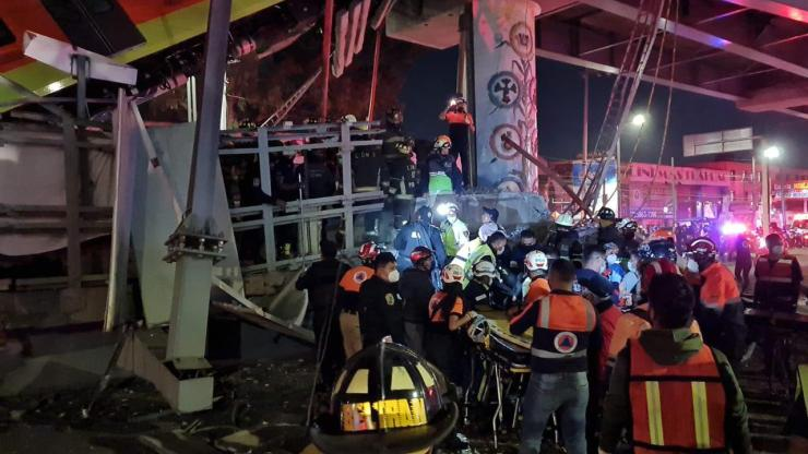 Line 12 metro collapse Mexico