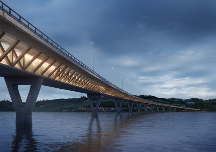 Bridge over Lake Mjosa