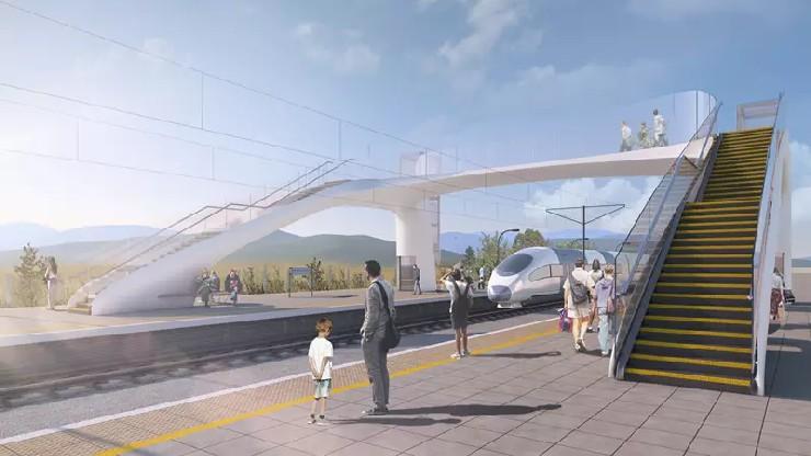 Network Rail - composite footbridge design
