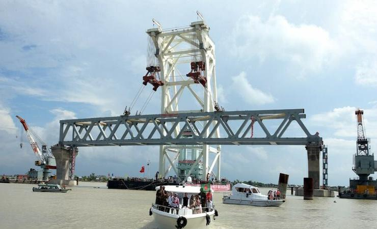 Padma Bridge - first span