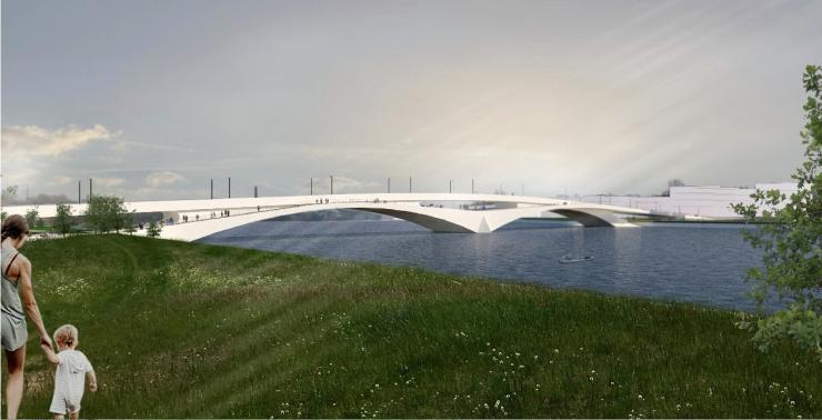 Parnu bridge design competition - 2nd place