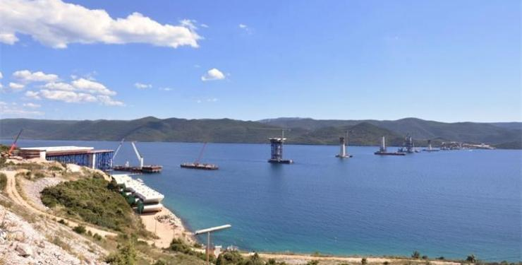 Peljesac Bridge under construction