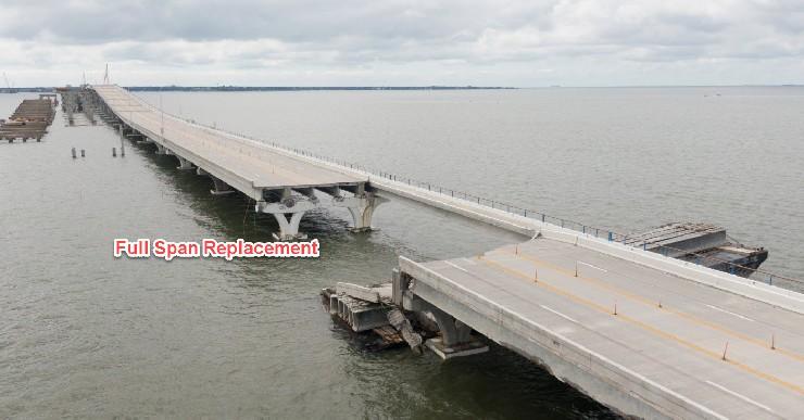 Pensacola Bay Bridge - damage