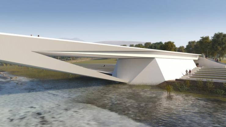 Piave River bridge - FHECOR and Alberto Campo Baeza Architects
