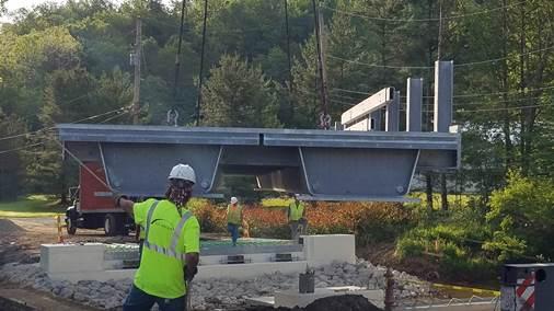 Press-brake-formed steel tub girder bridge