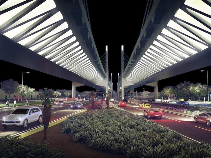 Qatar - Sabah Al-Ahmad Corridor cable-stayed bridge