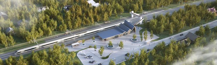 Rail Baltica aerial view
