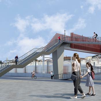 Rail Baltica footbridge