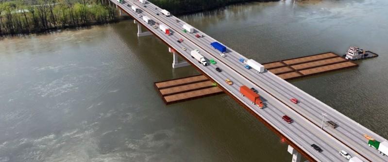 I70 Missouri River Bridge at Rocheport