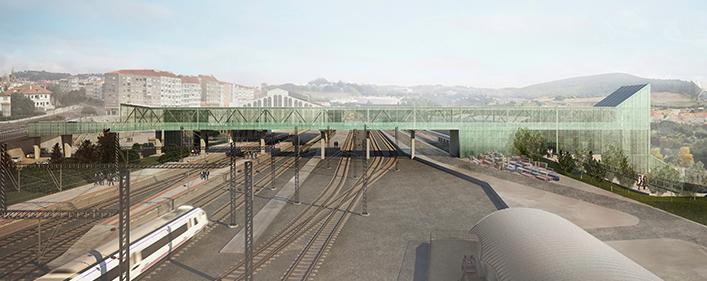 Santiago de Compostela - station bridge