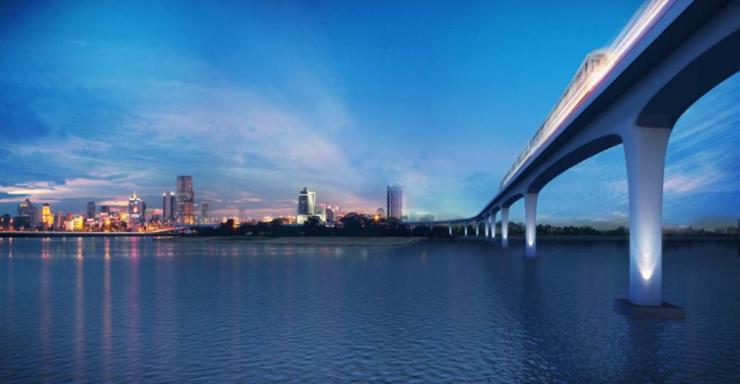 Singapore rail viaduct