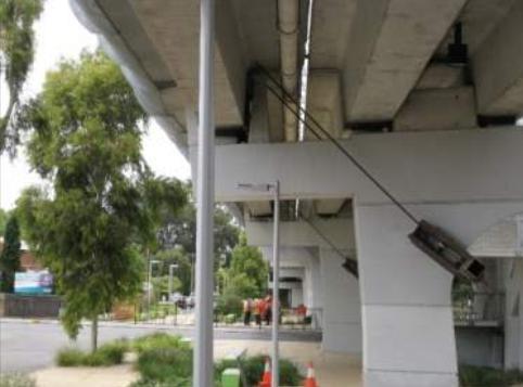 South Road overpass - temporary tiebacks
