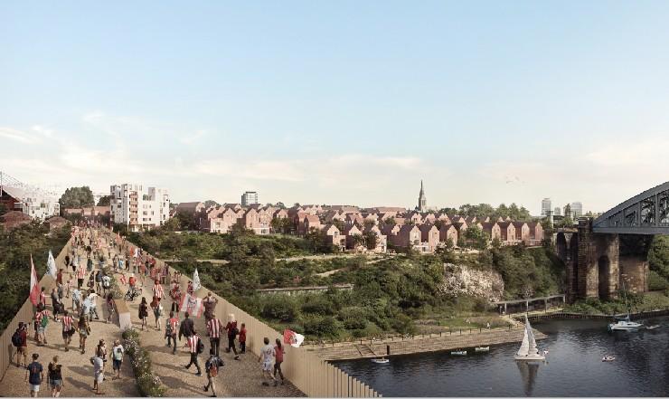footbridge for Sunderland Riverside