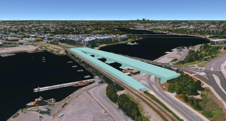 Swan River Crossings, Freemantle - planned alignment
