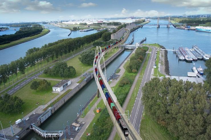 Port of Rotterdam railway