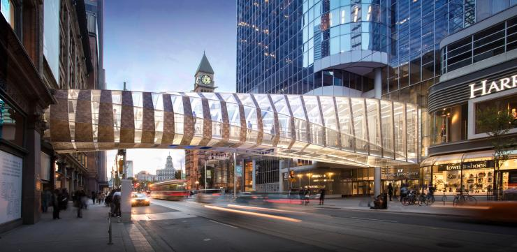 Cadillac Fairview pedestrian bridge
