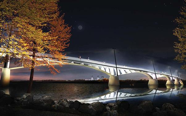 Arkansas River pedestrian bridge